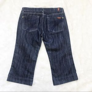7 For All Mankind Jeans - 7 For All Mankind DOJO Darkwash Capri Denim Jeans